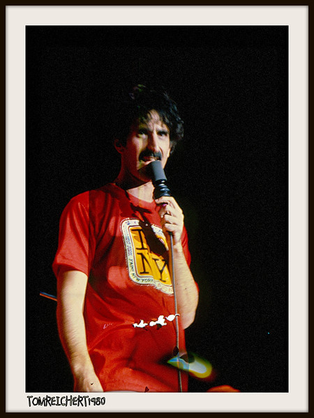 FRANK ZAPPA. CIRCA 1980 NASSAU COLISEUM NEW YORK