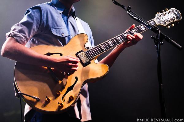 Ezra Koenig of Vampire Weekend performs on October 12, 2010 at Jannus Live in St. Petersburg, Florida.