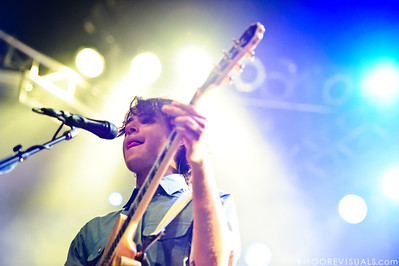 Ezra Koenig of Vampire Weekend performs on October 12, 2010 at Jannus Live in St. Petersburg, Florida.