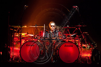 LOS ANGELES, CA - JUNE 09:  Drummer Alex Van Halen of Van Halen performs at Staples Center on June 9, 2012 in Los Angeles, California.  (Photo by Chelsea Lauren/WireImage)