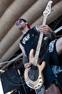 LAS VEGAS, NV - JUNE 20:  Bassist Jim Riley of The Ghost Inside performs at the 2012 Vans Warped Tour the Luxor Hotel on June 20, 2012 in Las Vegas, Nevada.  (Photo by Chelsea Lauren/WireImage)