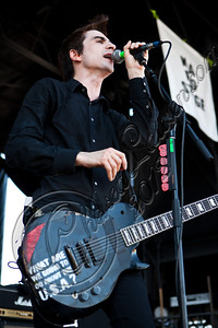 LAS VEGAS, NV - JUNE 20:  Vocalist Justin Sane of Anti-Flag performs at the 2012 Vans Warped Tour the Luxor Hotel on June 20, 2012 in Las Vegas, Nevada.  (Photo by Chelsea Lauren/WireImage)