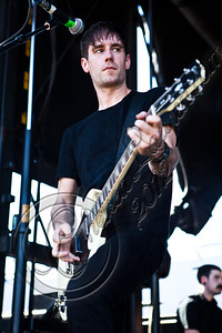 LAS VEGAS, NV - JUNE 20:  Bassist Chris Head of Anti-Flag performs at the 2012 Vans Warped Tour the Luxor Hotel on June 20, 2012 in Las Vegas, Nevada.  (Photo by Chelsea Lauren/WireImage)