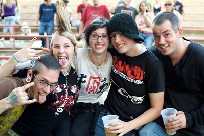 Greg, Marilyn, Jessie, Misch and Ptrick  at Riverbend Music Center for the Warped Tour