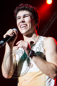 COSTA MESA, CA - AUGUST 02:  Actor / singer Max Schneider performs at Pacific Amphitheatre on August 2, 2012 in Costa Mesa, California.  (Photo by Chelsea Lauren/WireImage)