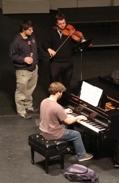 Viola and piano music rehearsal at UMass Lowell