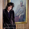 WBGL-52 Mike Scott of The Waterboys with a Portrait of W.B. Yeats. Abbey Theatre, Dublin, 2009.