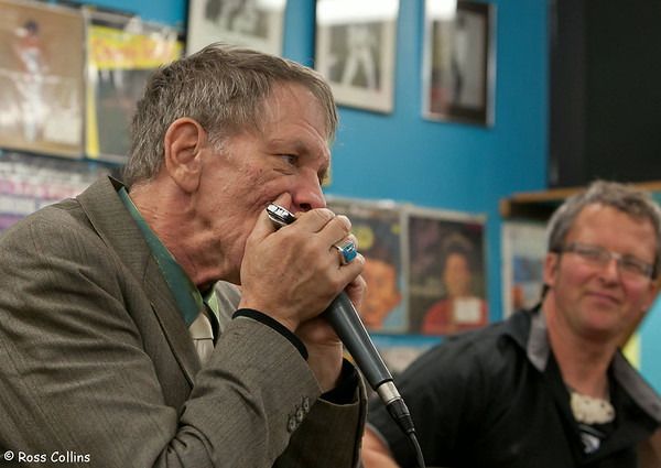 Watermelon Slim with Steve Gilles at Slow Boat Records Wellington for World Record Store Day, 20 April 2013