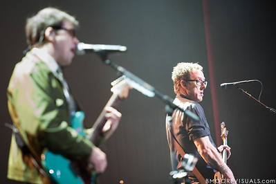 Rivers Cuomo and Scott Shriner of Weezer perform on November 9, 2012 at The Mahaffey in St. Petersburg, Florida