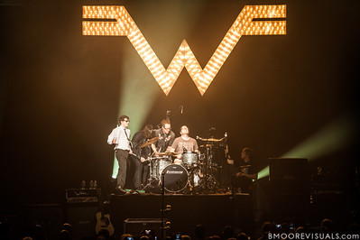 Rivers Cuomo, Brian Bell, Scott Shriner, and Patrick Wilson of Weezer perform on November 9, 2012 at The Mahaffey in St. Petersburg, Florida