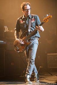 Scott Shriner of Weezer performs on November 9, 2012 at The Mahaffey in St. Petersburg, Florida