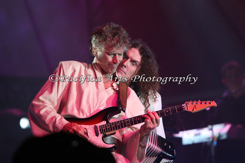 "Jim West and Weird Al performing ""The Saga Begins"" (American Pie).  I'm so pleased to find that this photo will be in Weird Al's Coffee Table book!"