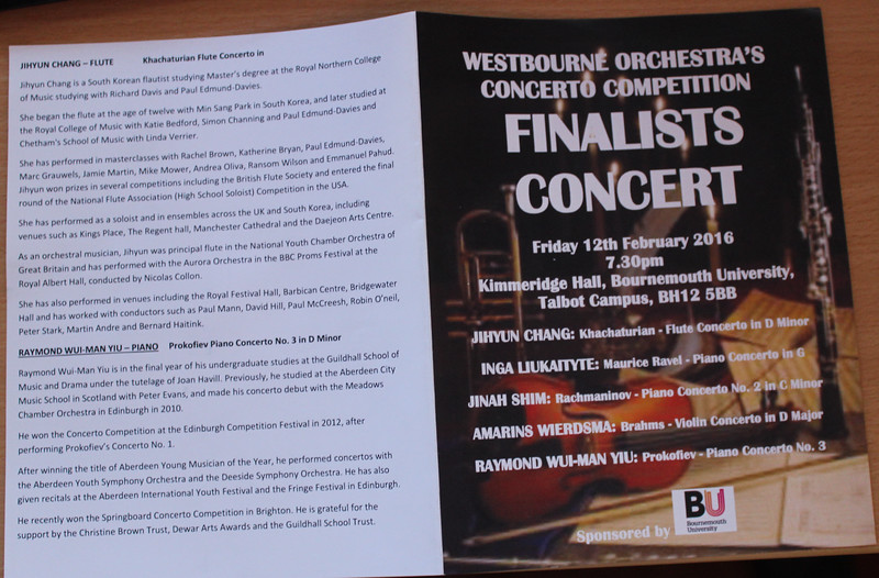 The programme for our 2016 Finalists' Concert (start)