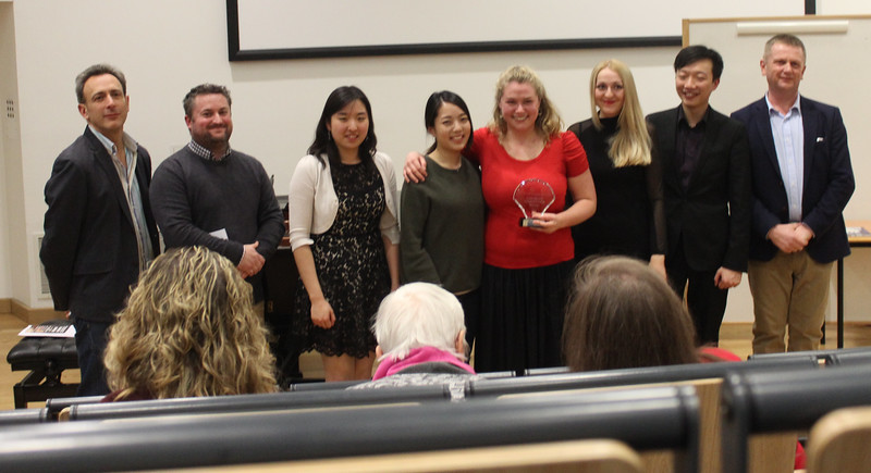 The 3 judges and 5 extremely talented  finalists, including this year's winner, violinist Amarins Wierdsma