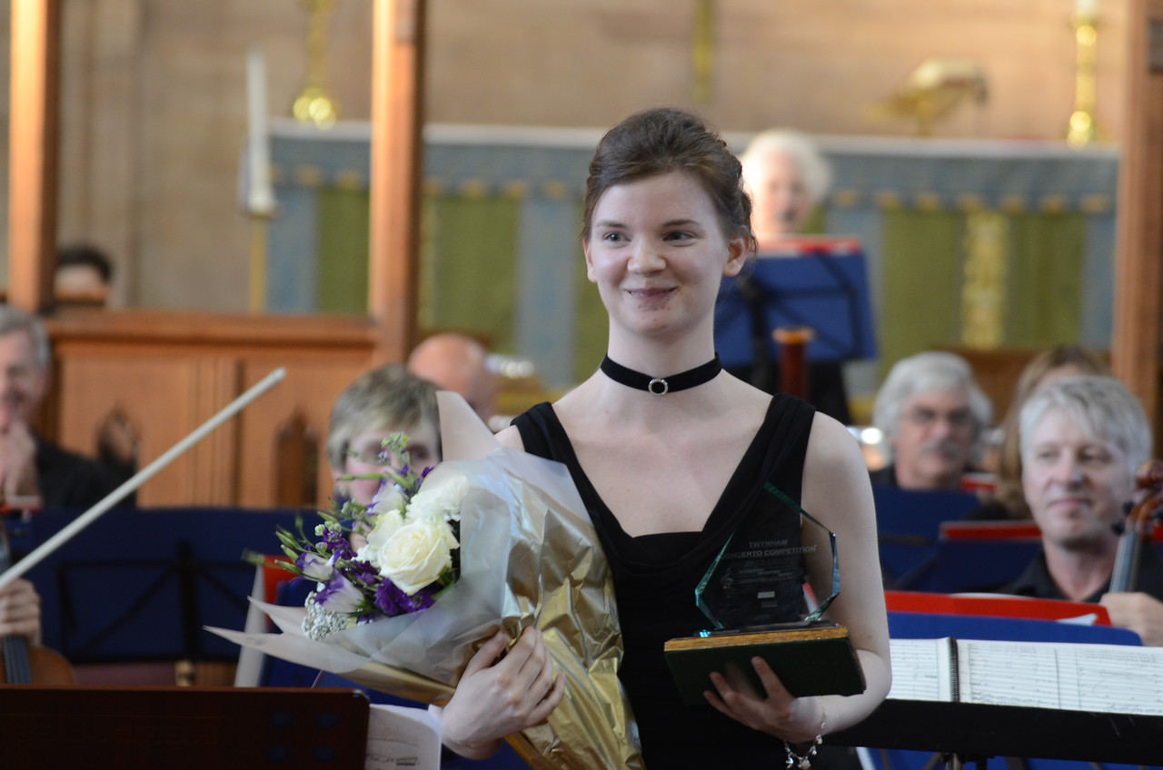 Hannah Scott, winner of the WOS 2013 Youth Concerto Competition