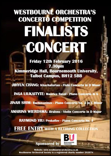 Poster for the Finals of our 2016 Concerto Competition