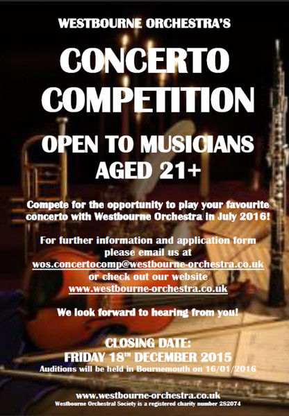WOS Age 21+ Concerto Competition 2015/2016 poster