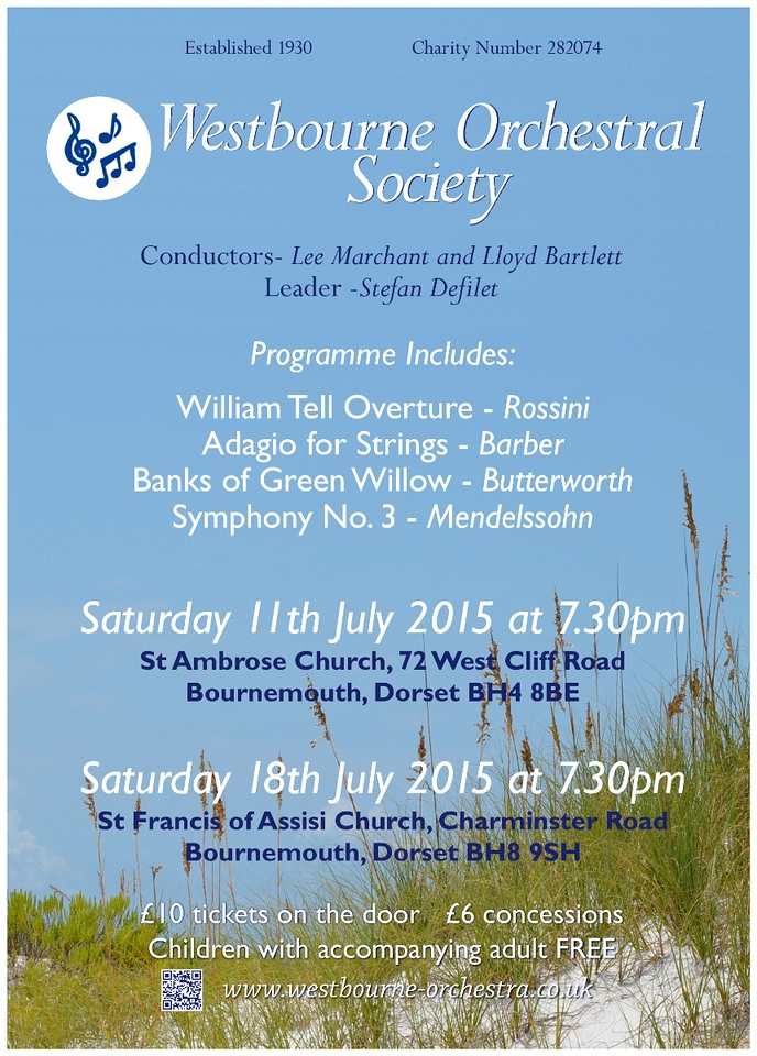 Poster for WOS July 2015 concerts