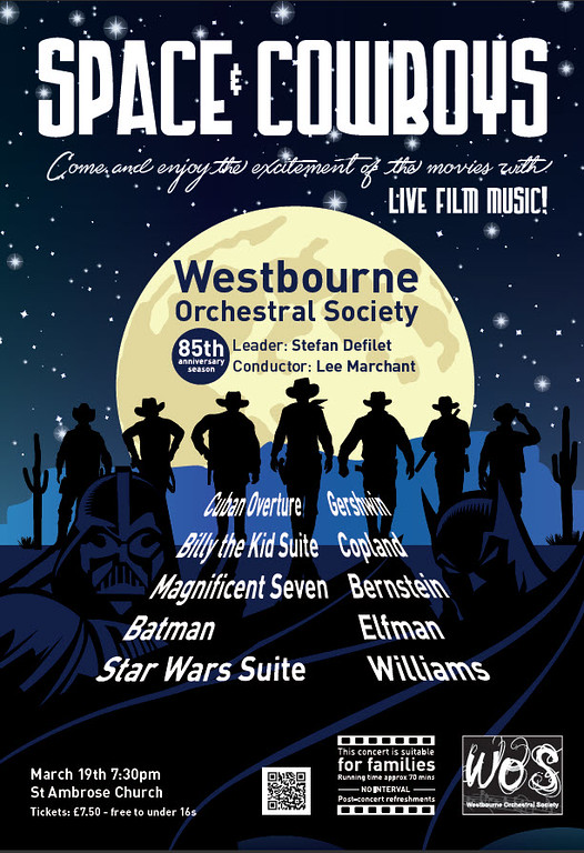 Westbourne Orchestra Poster for Concert 19 March 2016