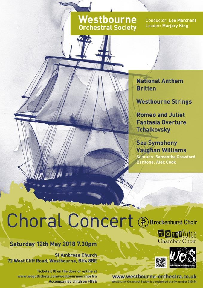 WOS Choral Concert 12 May 2018 Poster
