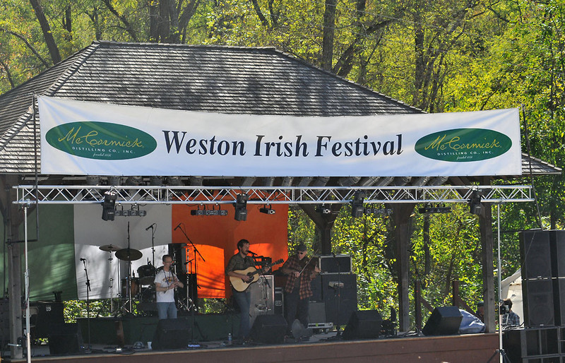 Weston Irish Fest 10.15.2011, Weston, Mo at O'Malley's Pub. Music on outside stage and underground in cellars built in 1842.