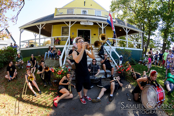 The What Cheer? Brigade playing on Peaks Island