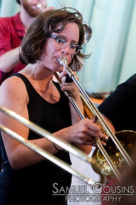 The What Cheer? Brigade playing at the Lions Club on Peaks Island