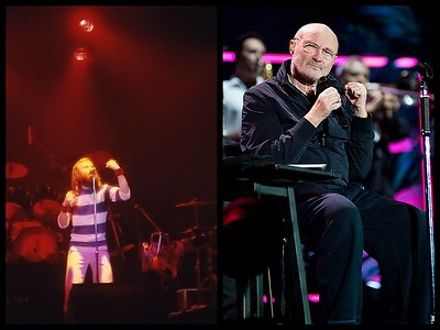 Phil Collins 1977 & Today, singing the same song.