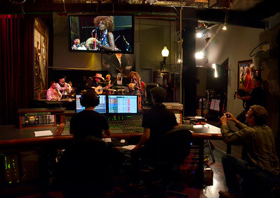 Freddy Clarke's Wobbly World at Loudville Recording Studio, Sausalito, CA. Recording and party. Oct. 26, 2012.