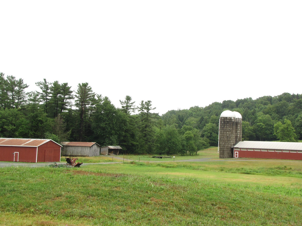 Woodstock/Bethel Woods farm near the base of the hill. This is NOT Yasgur's Farm. On a map this looks like it should be Yasgur's Farm but it's not. This is owned by Bethel Woods and appears to be a functioning dairy farm