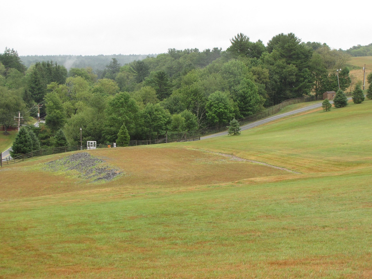 Woodstock stage site. This is the most-recent stage, used for the 1998-1999 'Day In The Garden' concerts. The 1969 stage was set a bit further to the right.