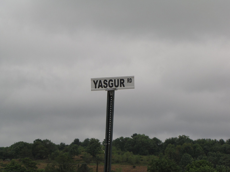 Yasgur's Farm. If you're looking for the actual Yasgur's Farm location look up this road on your GPS or Google Maps. It's not really close to the concert site. It's on Rte 17B, past the entrance to Bethel Woods.
