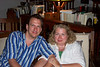 Ellis Paul and Becky Grider on Becky's 50th birthday - July 18, 2005.  Ellis dedicated the show at The Chouse in Norman, OK that night to Becky.