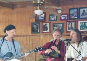 Jimmy LaFave, David Amram & Bob Childers at Mary Jo's Pancake Breakfast - a benefit for the Huntingdon's Disease Society.