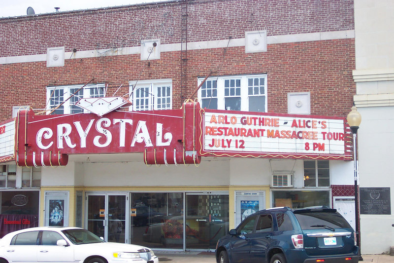 Crystal Theater marquee - July 12, 2006