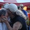 Sam kissing Richard's head.  :-)