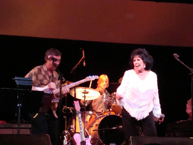Rock and Roll Hall of Fame Inductee Wanda Jackson performed at a special pre-festival benefit at Cain's Ballroom in Tulsa on July 7, 2009.