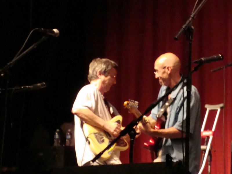 Terry Ware and Don Conoscenti at the Sunday hootenanny