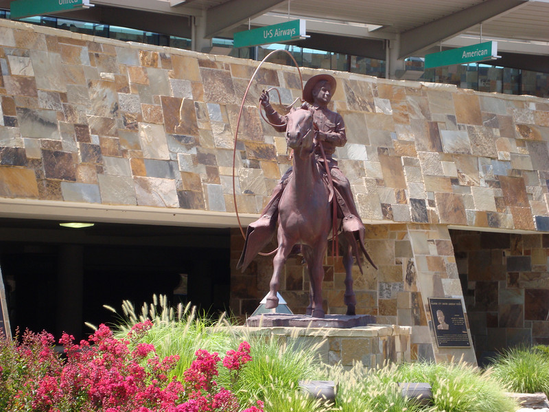 Upon arrival, a statue of Will Rogers greeted me at the Will Rogers World Airport in Oklahoma City.