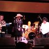 Nancy Apple on stage with Wanda.