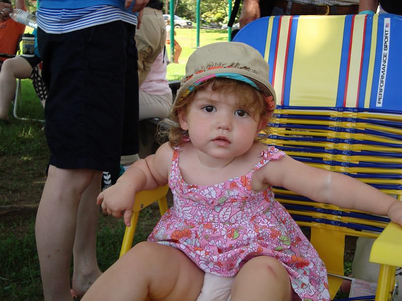 Miss Ella Grace Grider enjoying herself at Ellis' kids' show.