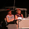 Fred Ellert took this one of Jela Webb and I sitting on the stage during Ellis' set.  :-)