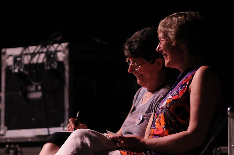 Richard Webb took this one of Jela and I sitting on the stage during Ellis' set.