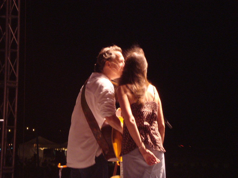 Ellis and Monica doing some sweet harmony.