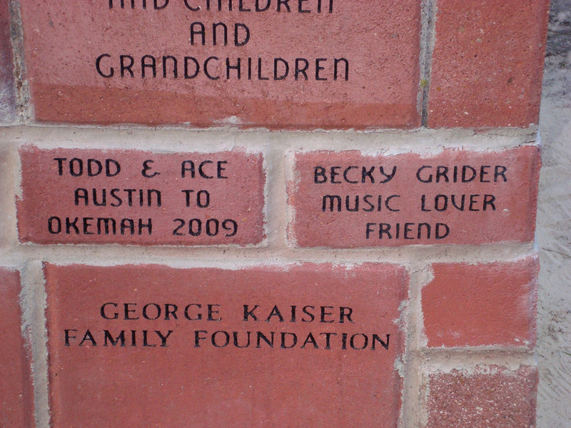 And a brick for Becky....