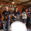 Rob McNurlin, Joel Rafael, Jimmy LaFave, the Burns Sisters and David Amram at Mary Jo's Pancake Breakfast.