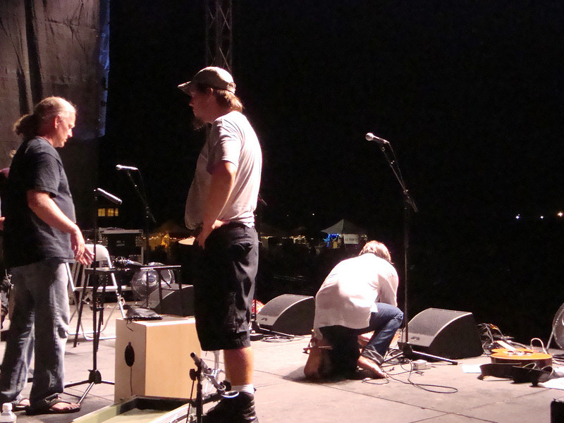 Ellis' preparing for his Friday night headlining show. July 16, 2010.