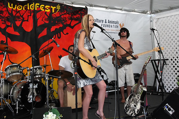 Manda Mosher performs at WorldFest