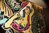 Artwork in men's room at W Hotel Times Square Livingroom Lounge photo by Rob Rich/SocietyAllure.com © 2016 robwayne1@aol.com 516-676-3939