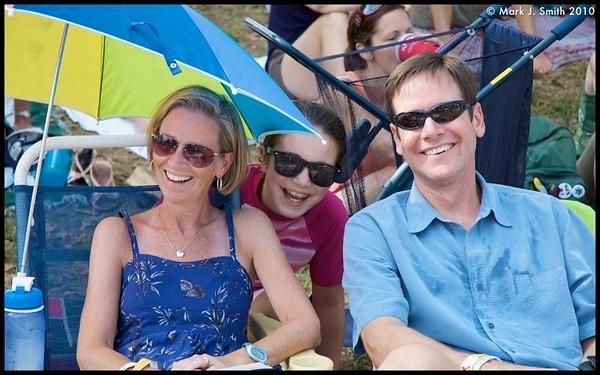 Walt and Megan Norris from Erdenheim with their niece  Celia Martone from Ft. Washington enjoy the music